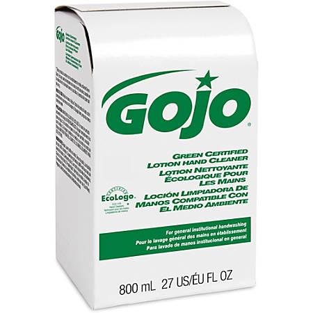 Gojo Green Certified Lotion Hand Cleaner Refill - 27.1 fl oz (800 mL) - Hand - Green - 12 / Carton