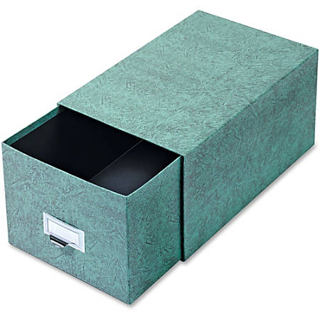 "Globe-Weis® 90% Recycled Index Card Storage Case, 6"" x 9"", Green"