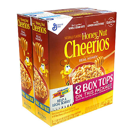 Honey Nut Cheerios, 56 Oz, Pack Of 2 Boxes