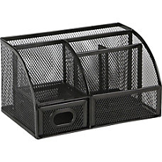 Lorell Mesh Desktop Organizer 255 Height