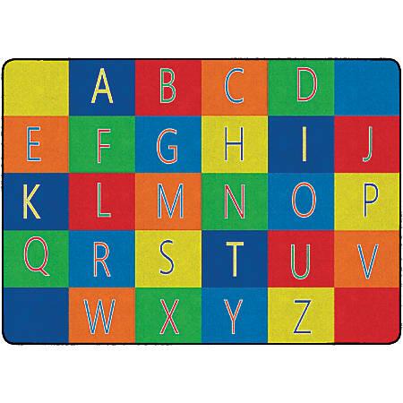 "Flagship Carpets Alphabet Seating Rug, 6' x 8' 4"", Multicolor"