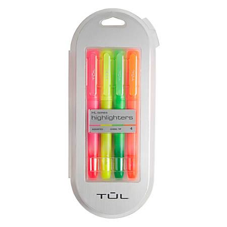 Tul Highlighters Chisel Tip Assorted Barrel Colors Assorted Ink Colors Pack Of 4 Highlighters Item 9398659
