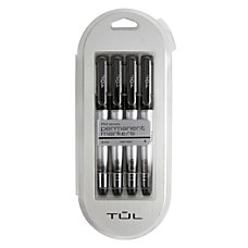 TUL Permanent Markers Fine Point Silver