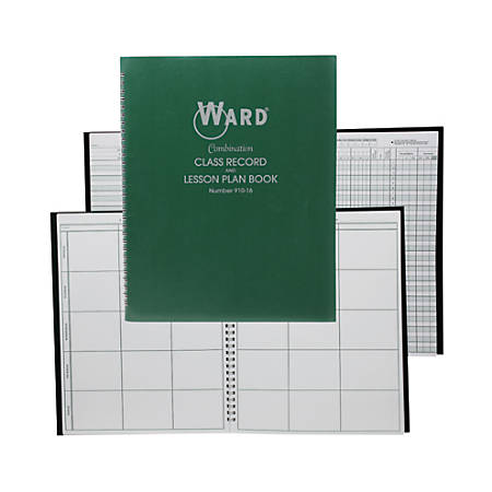 Ward Class Record And Lesson Plan Combo Books, Green, Pack Of 3