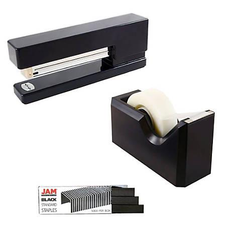 JAM Paper® 3-Piece Office Organizer Set, Black