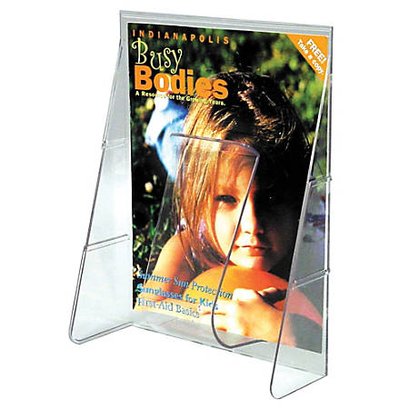 """Deflect-O® Stand-Tall® Wall Mount Leaflet Size Literature Display, 11 3/4""""H x 9 1/8""""W x 2 3/4""""D, Clear"""
