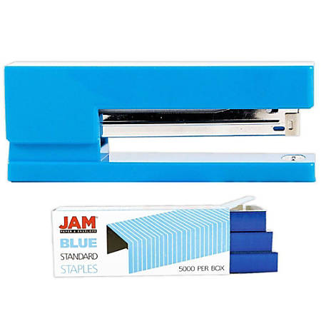JAM Paper® 2-Piece Office Stapler Set, Blue