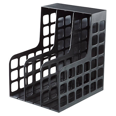 Oxford Decorack Shelf File - 2 Divider(s) - Black - Plastic - 1 Each