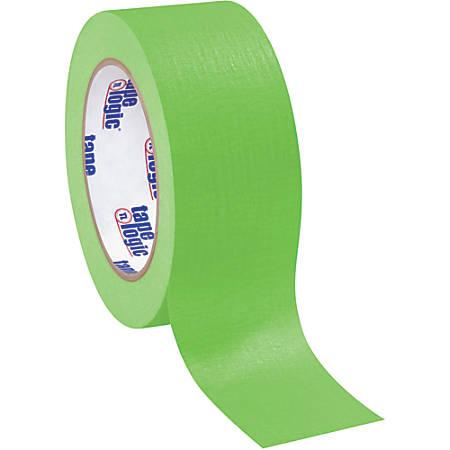 "Tape Logic® Color Masking Tape, 3"" Core, 2"" x 180', Light Green, Case Of 12"