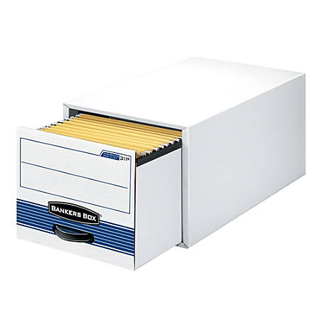 """Bankers Box® Stor/Drawer® Steel Plus™ Drawer File, Legal Size, 23 1/4"""" x 15 1/2"""" x 10 3/8"""", 60% Recycled, Black/White"""