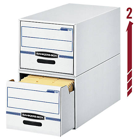 "Bankers Box® Stor/Drawer® File, 23 1/4"" x 12 1/2"" x 10 3/8"", Letter Size, 60% Recycled, Blue/White"