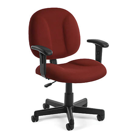 OFM Comfort Series Superchair Mid-Back Task Chair, Wine/Black