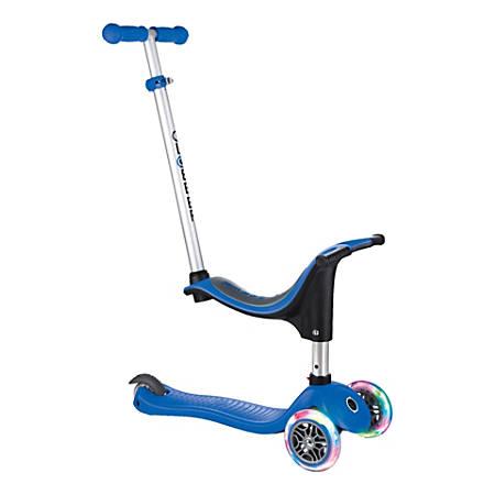 "Globber Evo 4-In-1 Light Scooter, 29-1/2""H x 11""W x 36-1/4""D, Navy Blue"