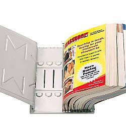 Master Catalog Rack Gray 6 Sections
