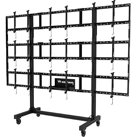 "Peerless-AV Portable Video Wall Cart For 46""-55"" Displays, 94.4""H x 10.1""W x 36.1""D, Black"
