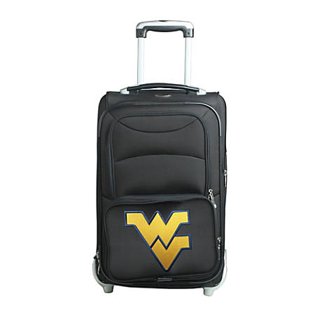 """Denco Sports Luggage NCAA Expandable Rolling Carry-On, 20 1/2"""" x 12 1/2"""" x 8"""", West Virginia Mountaineers, Black"""