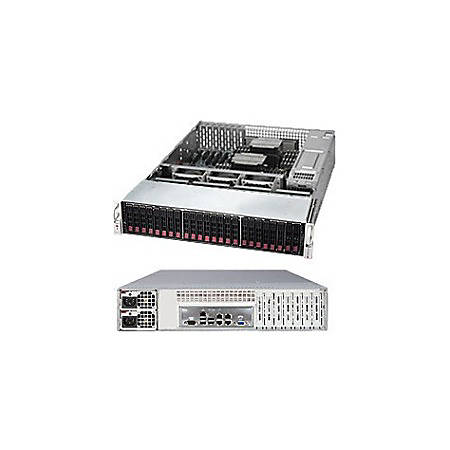 Supermicro SuperServer 2028R-E1CR24H Barebone System - 2U Rack-mountable - Intel C612 Chipset - Socket LGA 2011-v3 - 2 x Processor Support - Black - 1 TB DDR4 SDRAM DDR4-2133/PC4-17000 Maximum RAM Support - Serial ATA/600, 12Gb/s SAS RAID Supported