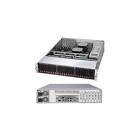 Supermicro SuperServer 2028R-E1CR24H Barebone System - 2U Rack-mountable - Intel C612 Chipset - Socket LGA 2011-v3 - 2 x Processor Support - Black