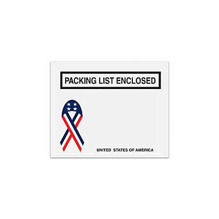 "Office Depot® Brand Packing List Envelopes, 4 1/2"" x 5 1/2"", USA Ribbon, Pack Of 1,000"