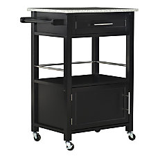 Linon Clark Granite Top Kitchen Cart