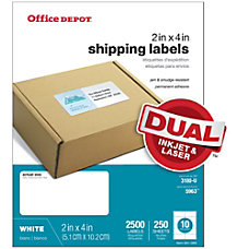 Office Depot Brand White Laser Shipping