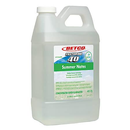 Betco® SenTec Air Freshener, Summer Notes, 153.28 Oz, Pack Of 2