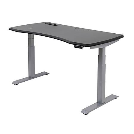"WorkPro® 60""W Electric Height-Adjustable Standing Desk, Black"