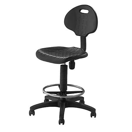 National Public Seating 6700 Kangaroo Stool, Black