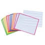 """KleenSlate® Rectangular Paddle Replacement Surfaces, 8"""" x 10"""", Assorted Colors, Pack Of 12"""