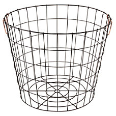 Realspace Round Metal Wire Basket with