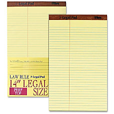 TOPS Law Ruled Writing Pad 8