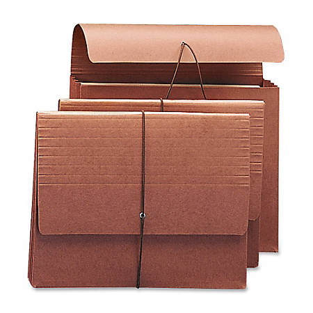 """Smead® Redrope Expanding Wallets With Elastic, Letter Size, 3 1/2"""" Expansion, 30% Recycled, Redrope, Pack Of 10"""