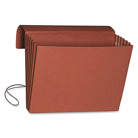 "Smead® Redrope Expanding Wallets With Elastic, Legal Size, 5 1/4"" Expansion, 30% Recycled, Redrope, Pack Of 10"
