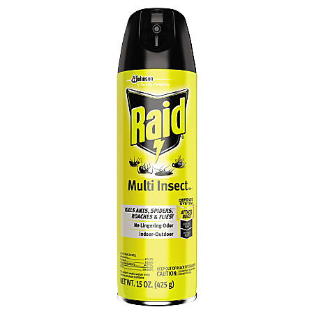 Raid Insect Killer, Multi Insect, 15 Oz, Pack Of 12 Bottles