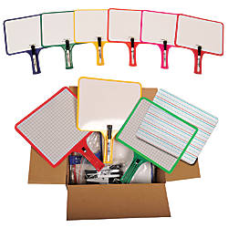 Kleenslate Rectangular Dry Erase Paddle Set