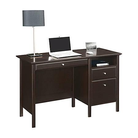 "Realspace® Chase 47""W Writing Desk, Dark Chestnut"