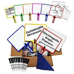 KleenSlate Rectangular Dry Erase Paddle Set