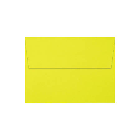"""LUX Invitation Envelopes With Peel & Press Closure, A6, 4 3/4"""" x 6 1/2"""", Citrus, Pack Of 50"""