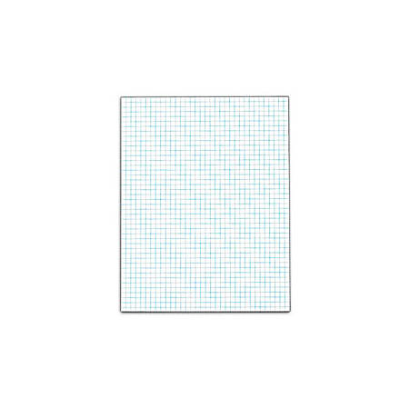 TOPS™ Quadrille Pads With Heavyweight Paper, 4 x 4 Squares/Inch, 50 Sheets, White