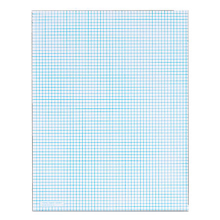 TOPS™ Quadrille Pads With Heavyweight Paper, 6 x 6 Squares/Inch, 50 Sheets, White