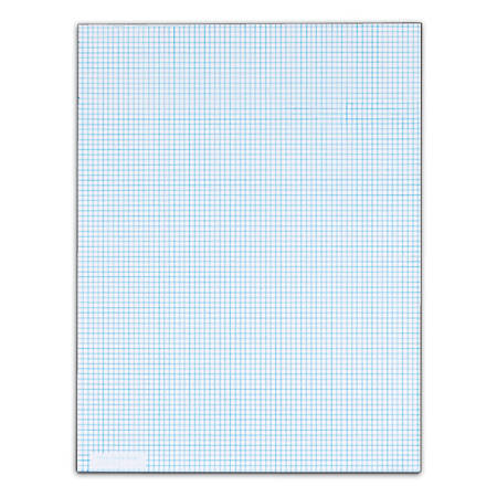 TOPS™ Quadrille Pads With Heavyweight Paper, 8 x 8 Squares/Inch, 50 Sheets, White