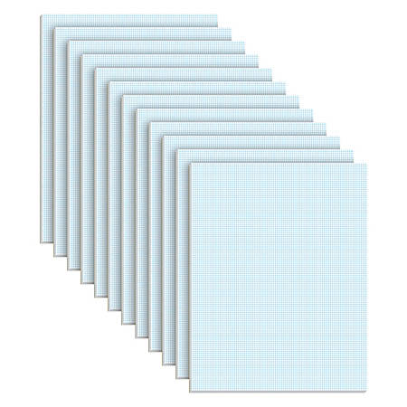 TOPS™ Quadrille Pads With Heavyweight Paper, 10 x 10 Squares/Inch, 50 Sheets, White
