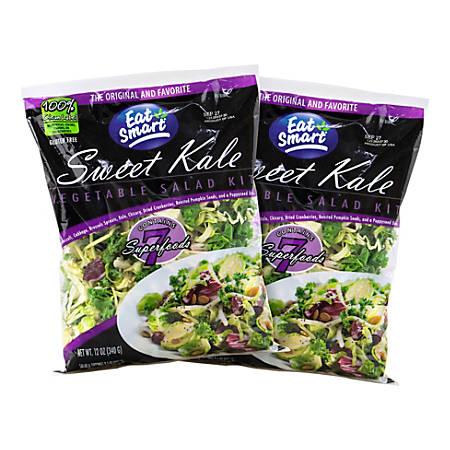 Eat Smart Sweet Kale Vegetable Salad Kits, 9.5 Oz, Pack Of 2 Salad Kits