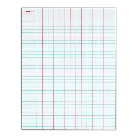 TOPS® Data Pad, 12 Column & Summary, Unpunched, 25 Sheets, White
