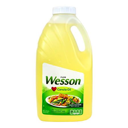 Wesson Pure Canola Oil, 5 Qt