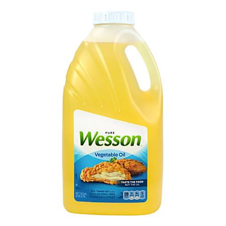 Wesson Pure Vegetable Oil, 5 Qt