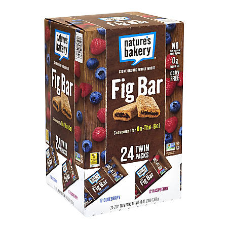 NATURE'S BAKERY Fig Bars Variety Pack, 2 oz, 24 Count