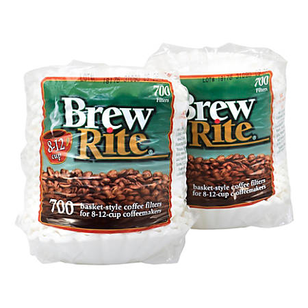 Brew Rite 8-12-Cup Basket Coffee Filters, Pack Of 700 Filters