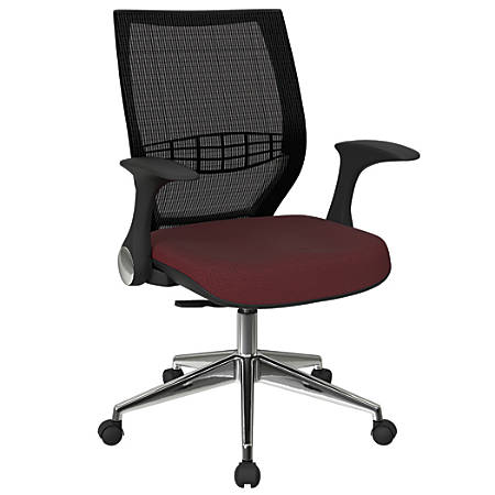 Office Star™ Pro-Line II ProGrid Fabric High-Back Chair, Wine/Black/Silver