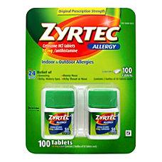Zyrtec Antihistamine Allergy Tablets 50 Tablets